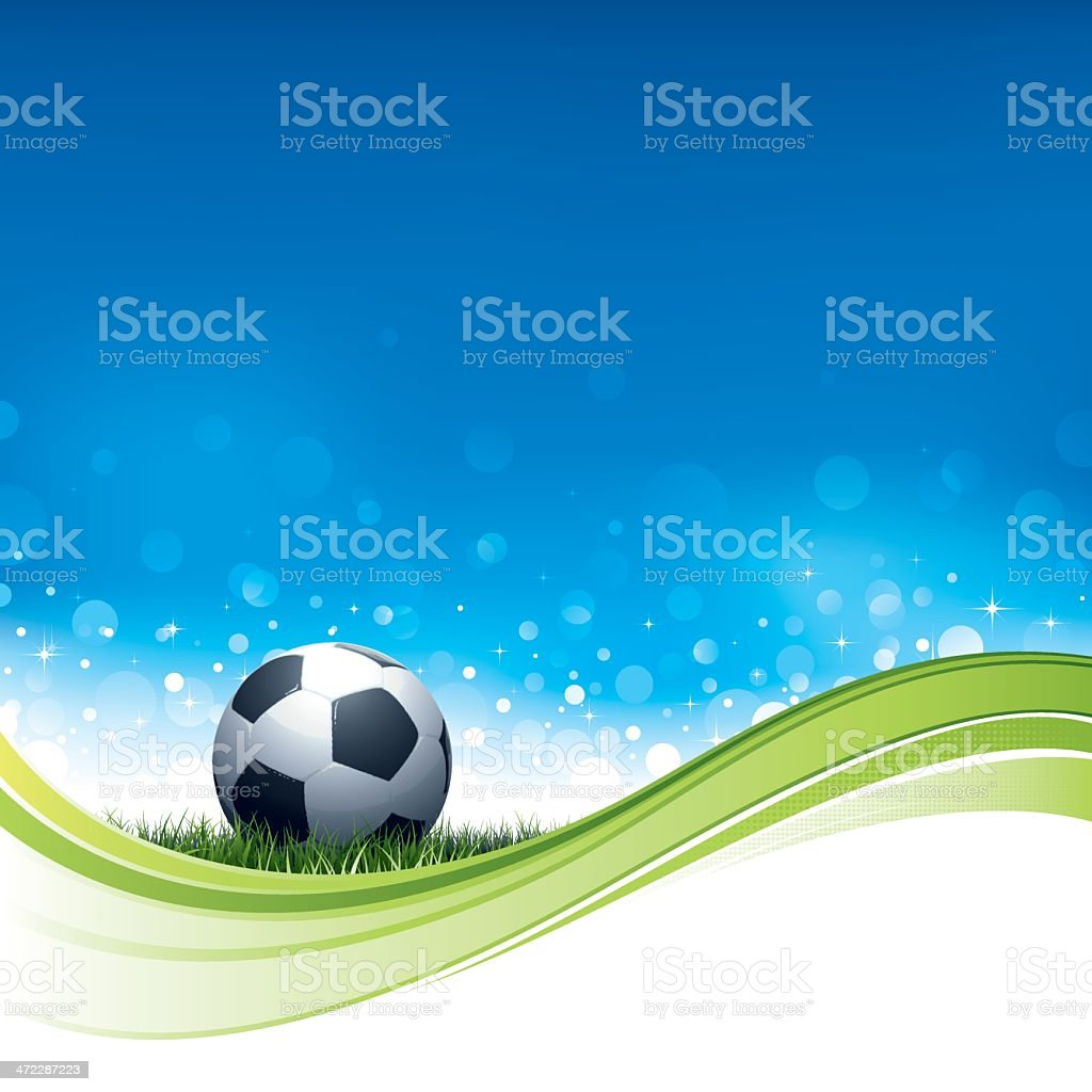 Soccer flow background royalty-free stock vector art