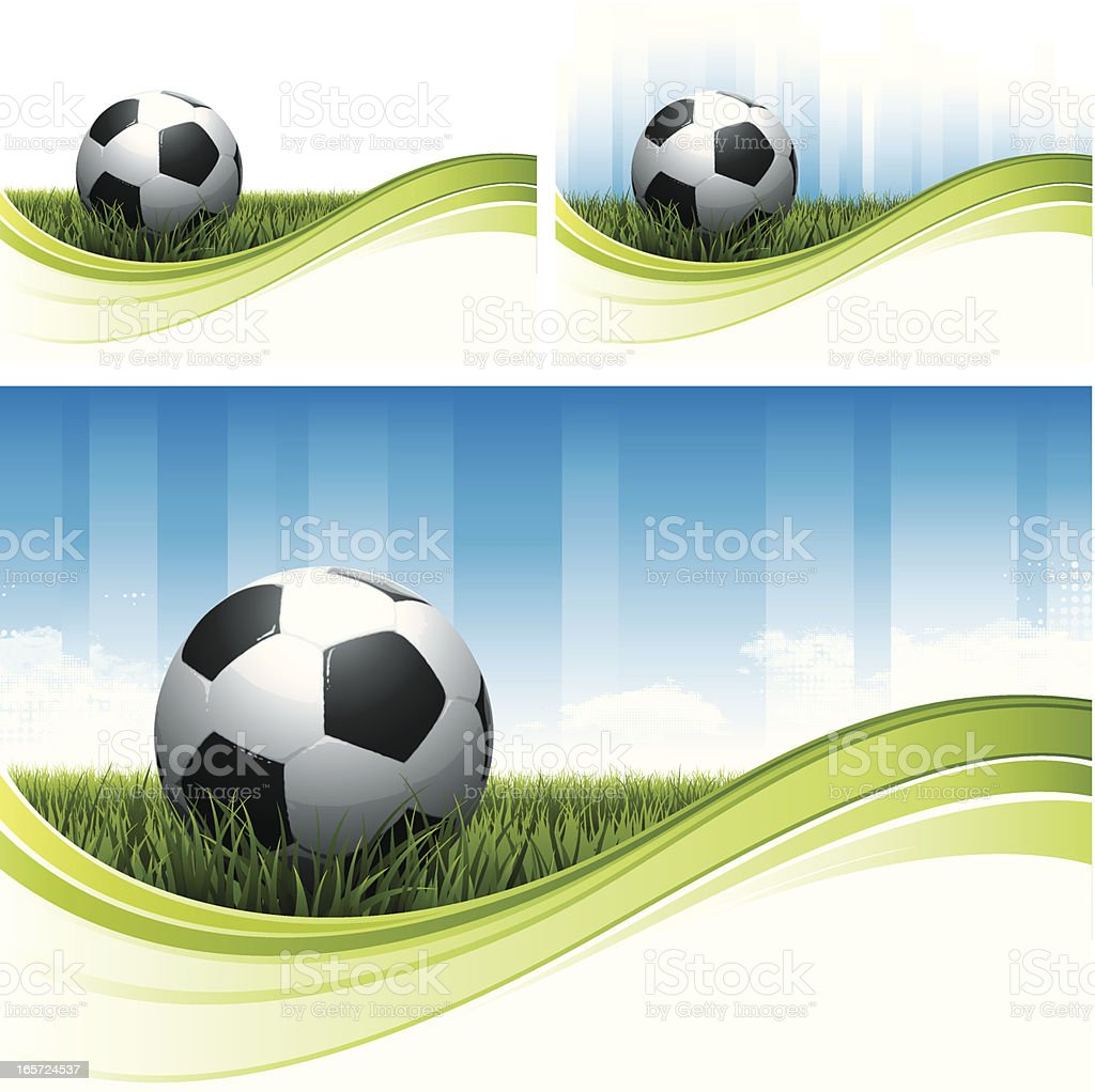 Soccer flow backgrounds royalty-free stock vector art
