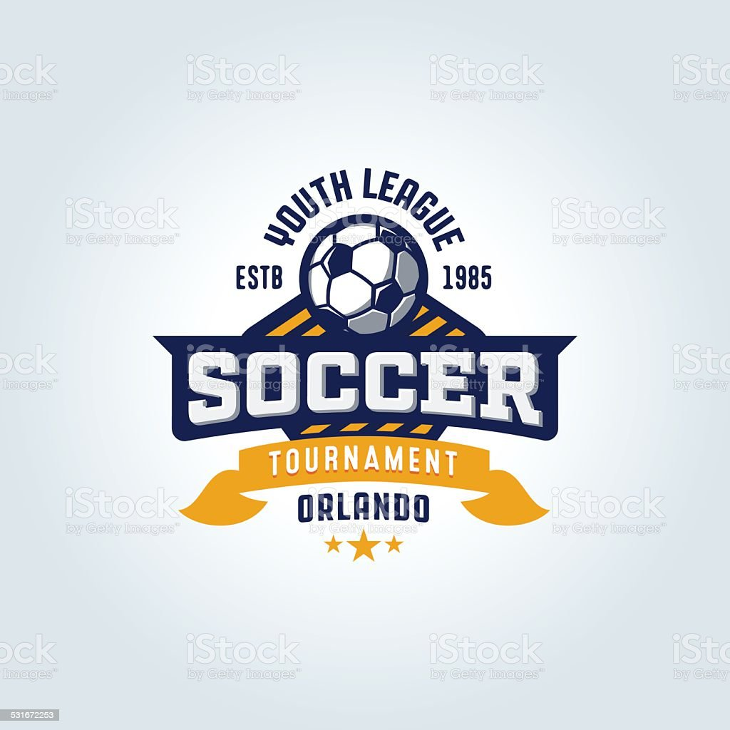 Soccer Football Badge Design vector art illustration