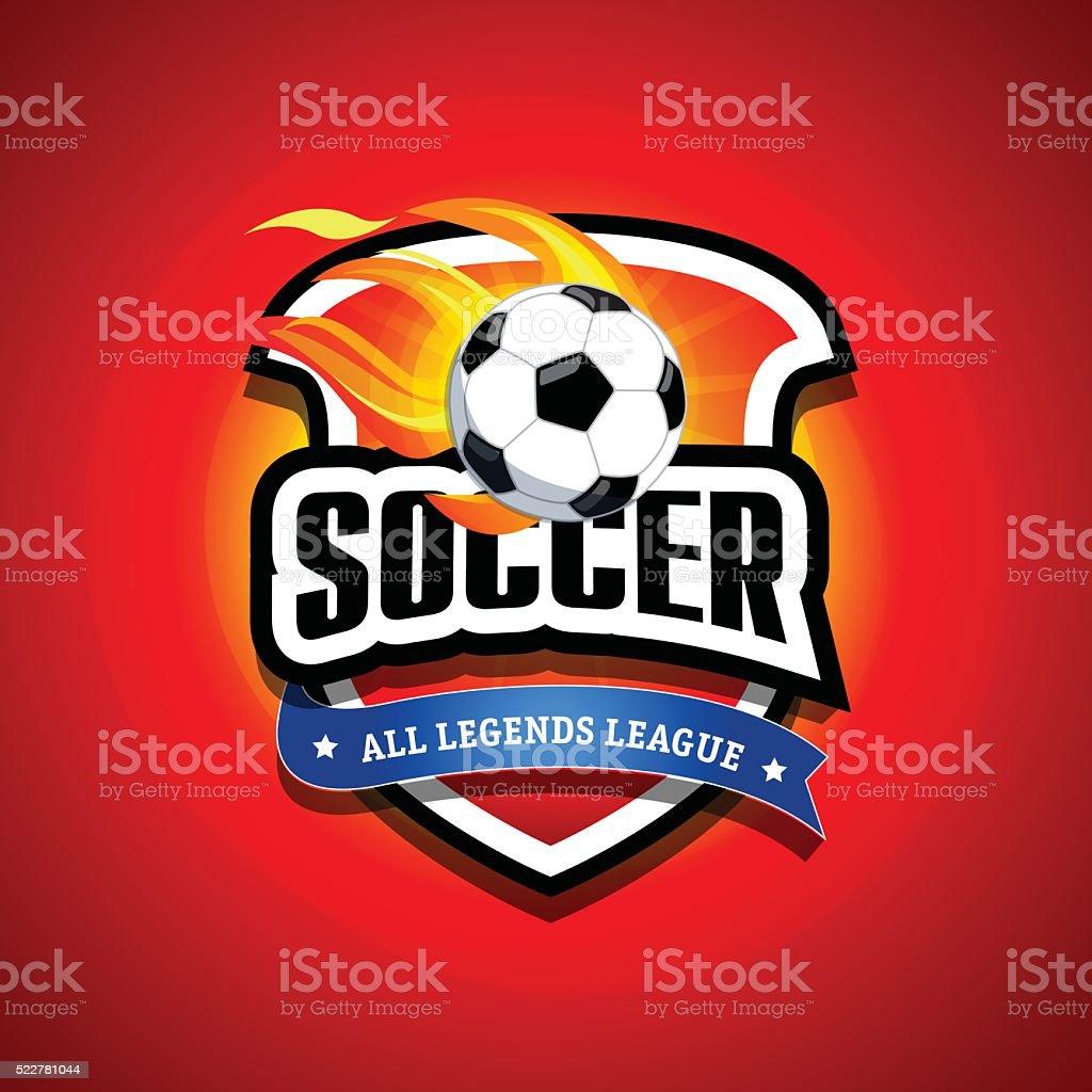 Soccer football badge Logo design template, sport logotype template. vector art illustration