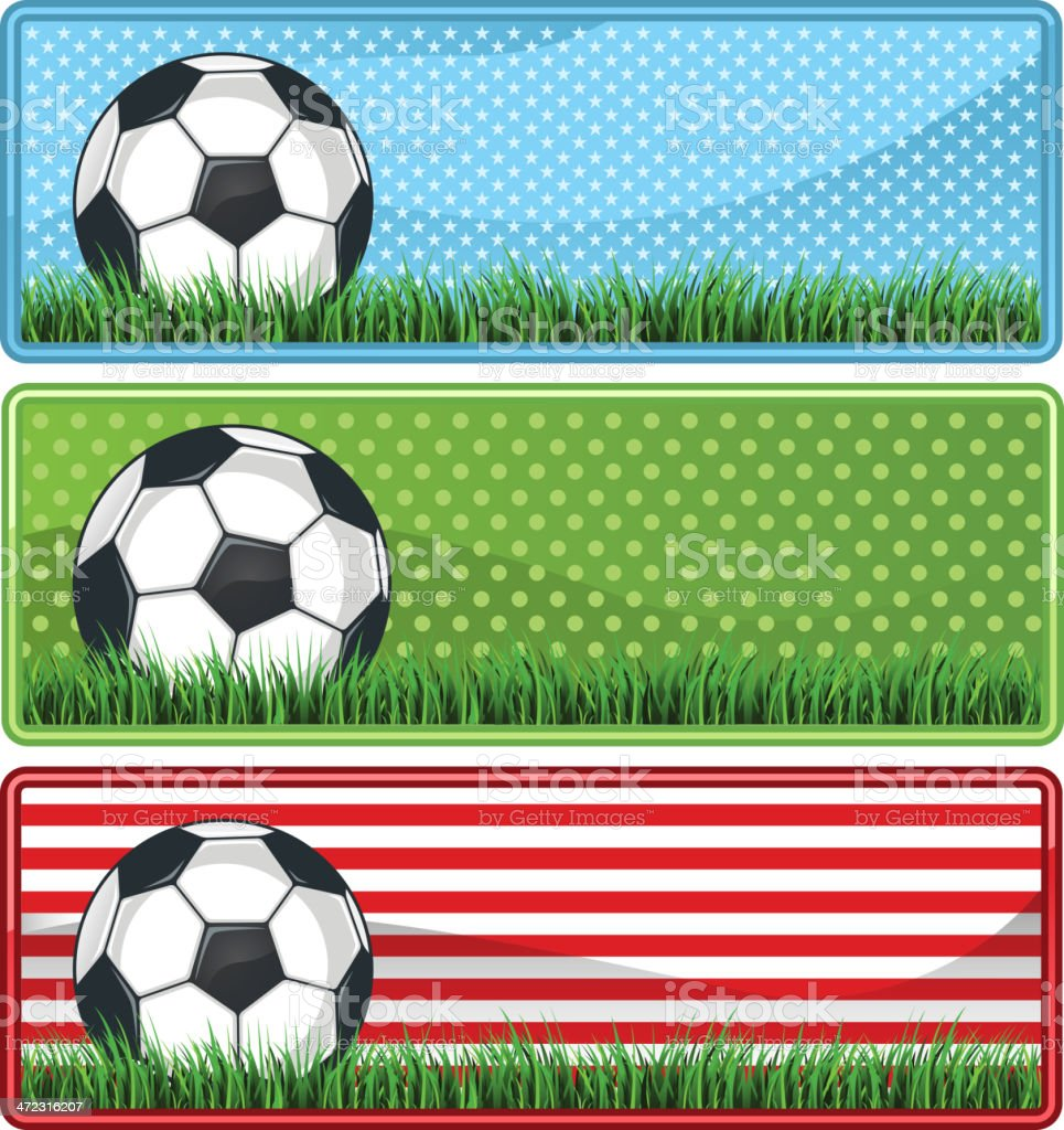 Soccer football banner sets royalty-free stock vector art