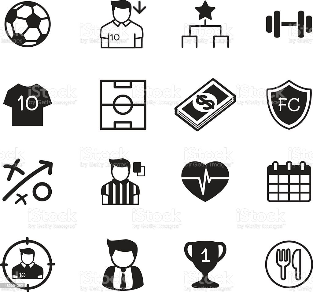 Soccer / football clubvector buttons set vector art illustration