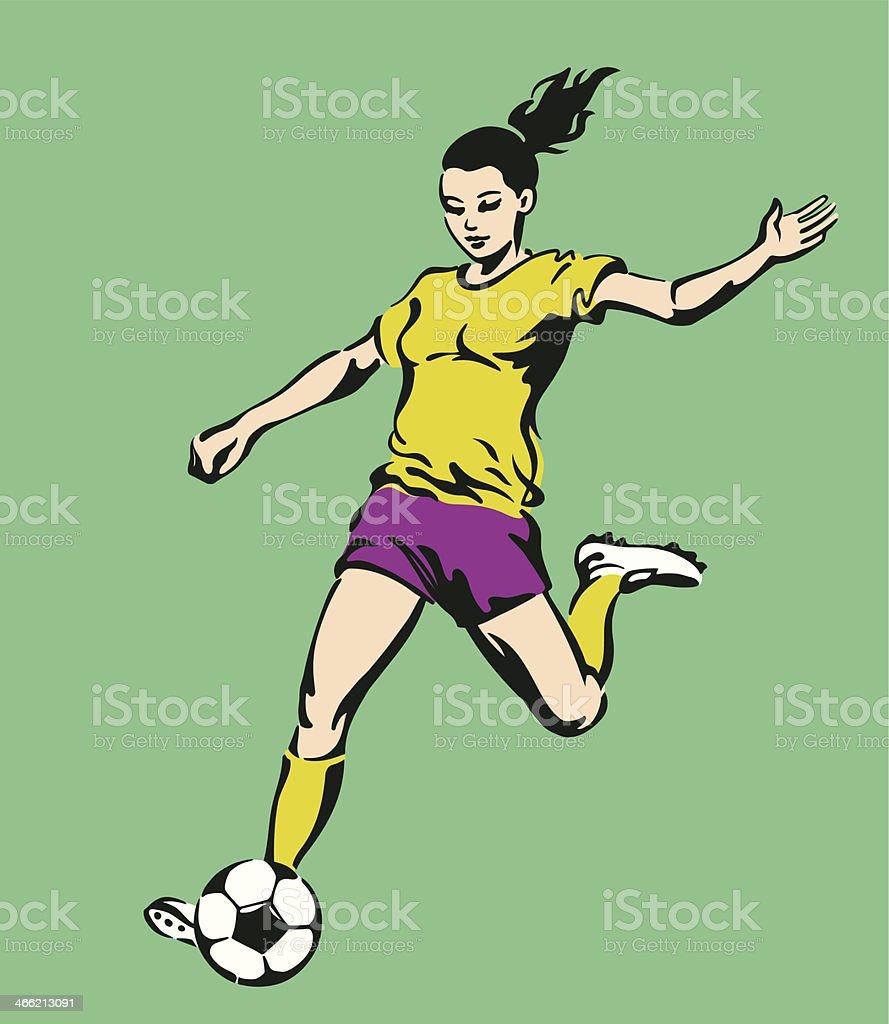 Soccer Football Female Player royalty-free stock vector art