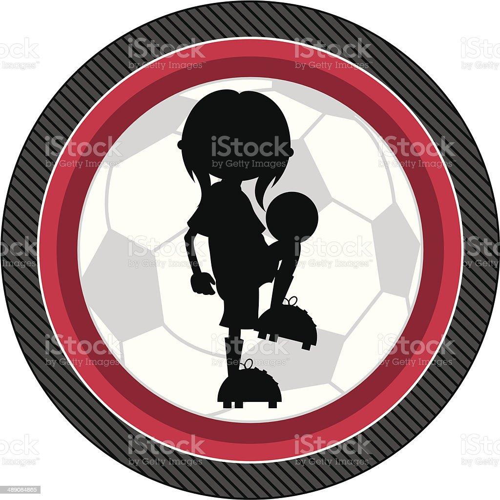 Soccer Football Girl Silhouette royalty-free stock vector art