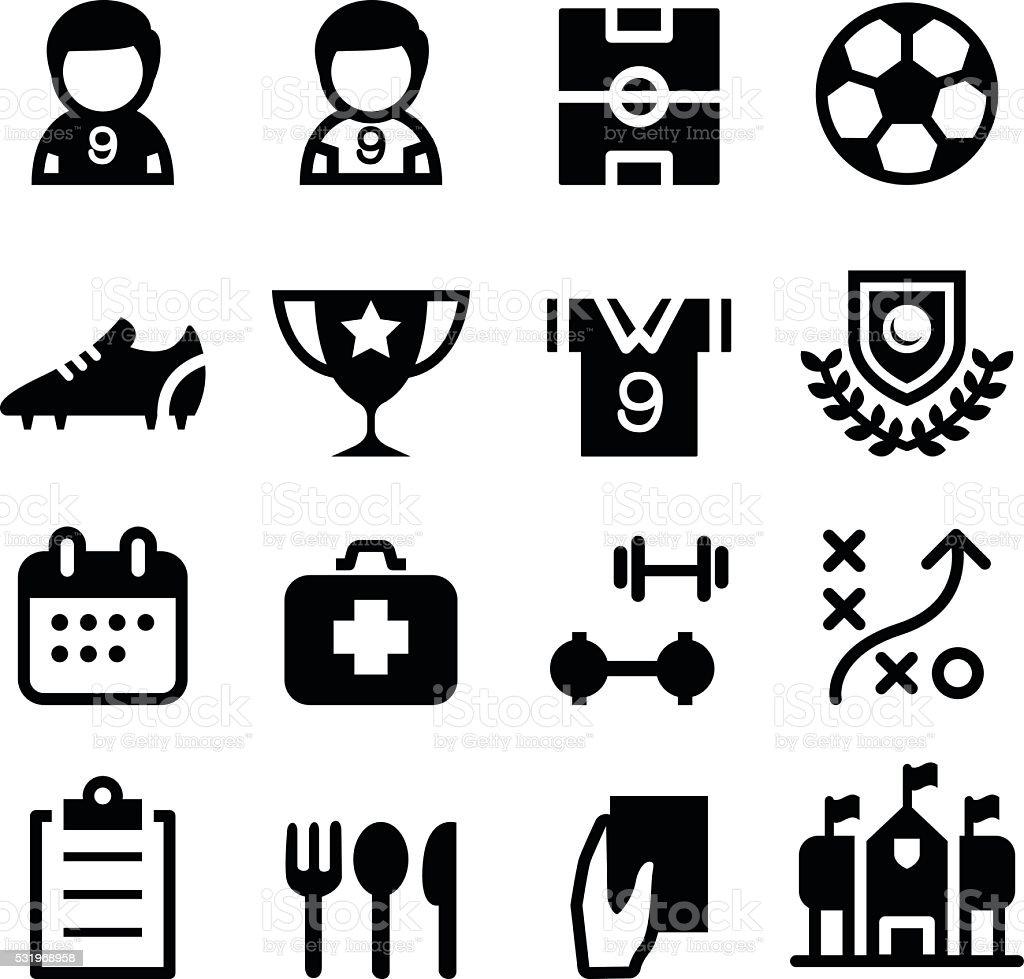 Soccer / football icon set vector art illustration