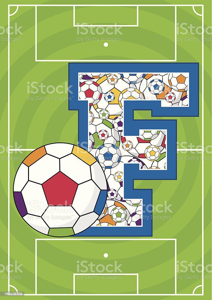 Soccer Football Learning Letter F royalty-free stock vector art