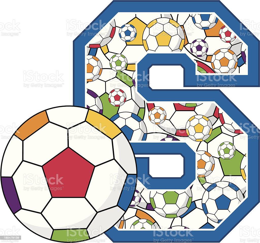 Soccer Football Learning Letter S royalty-free stock vector art