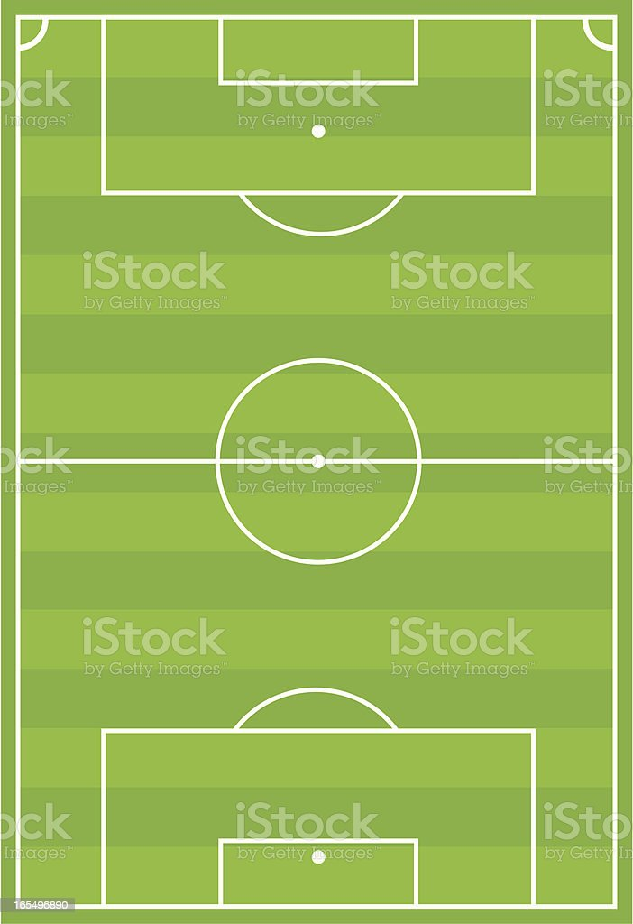 Soccer Football Pitch Horizontal Stripe vector art illustration