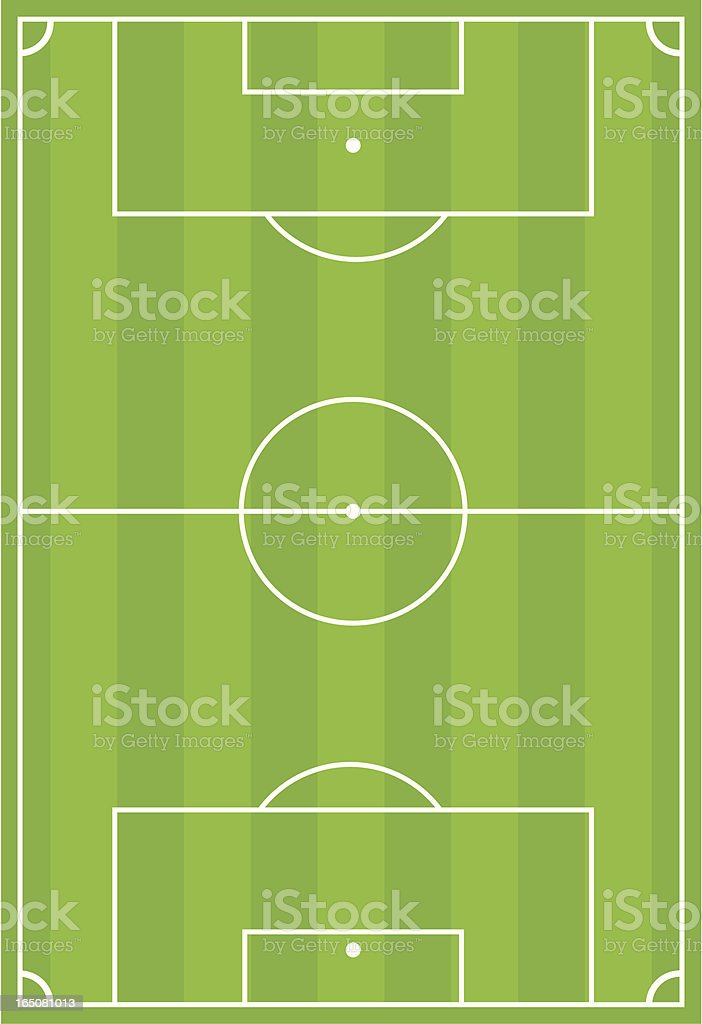 Soccer Football Pitch with Stripe Design vector art illustration