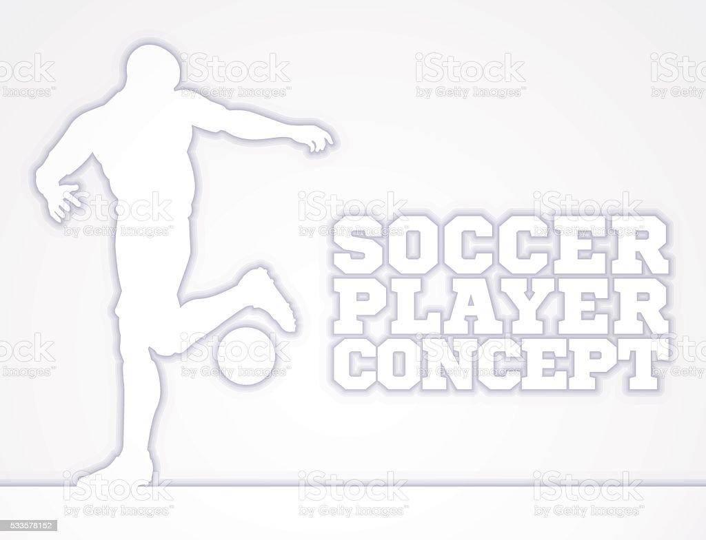 Soccer Football Player Concept Silhouette vector art illustration
