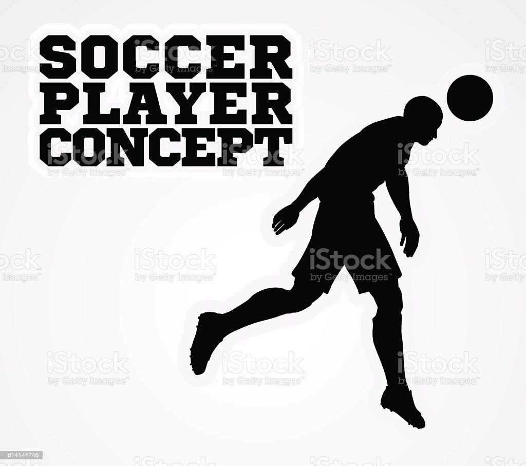 Soccer Football Player Silhouette Concept vector art illustration