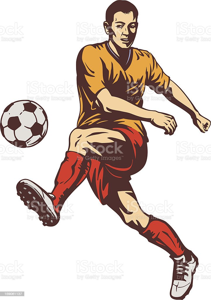 Soccer Football Player royalty-free stock photo