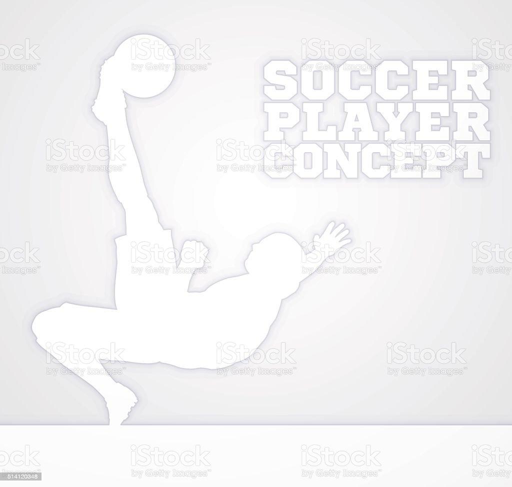 Soccer Football Silhouette Player vector art illustration