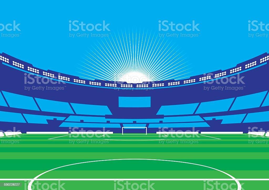 Soccer / Football Stadium vector art illustration