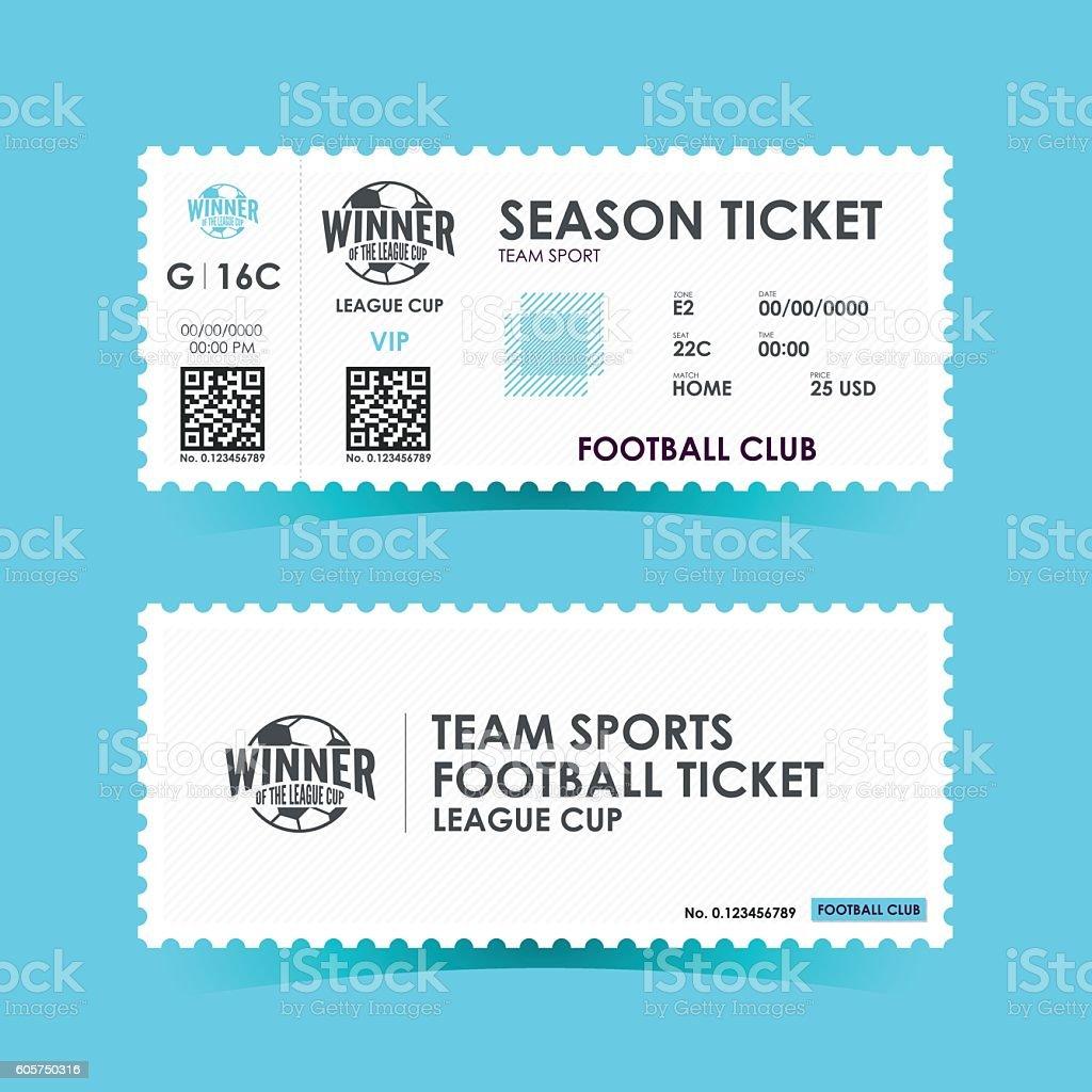 Soccer, Football Ticket Design. Vector illustration vector art illustration
