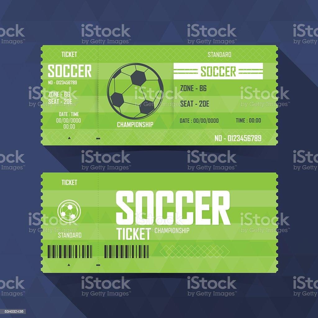 Soccer, Football Ticket, soccer sport. vector illustration vector art illustration
