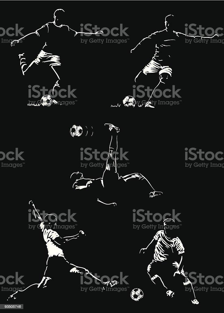 Soccer  Football royalty-free stock vector art