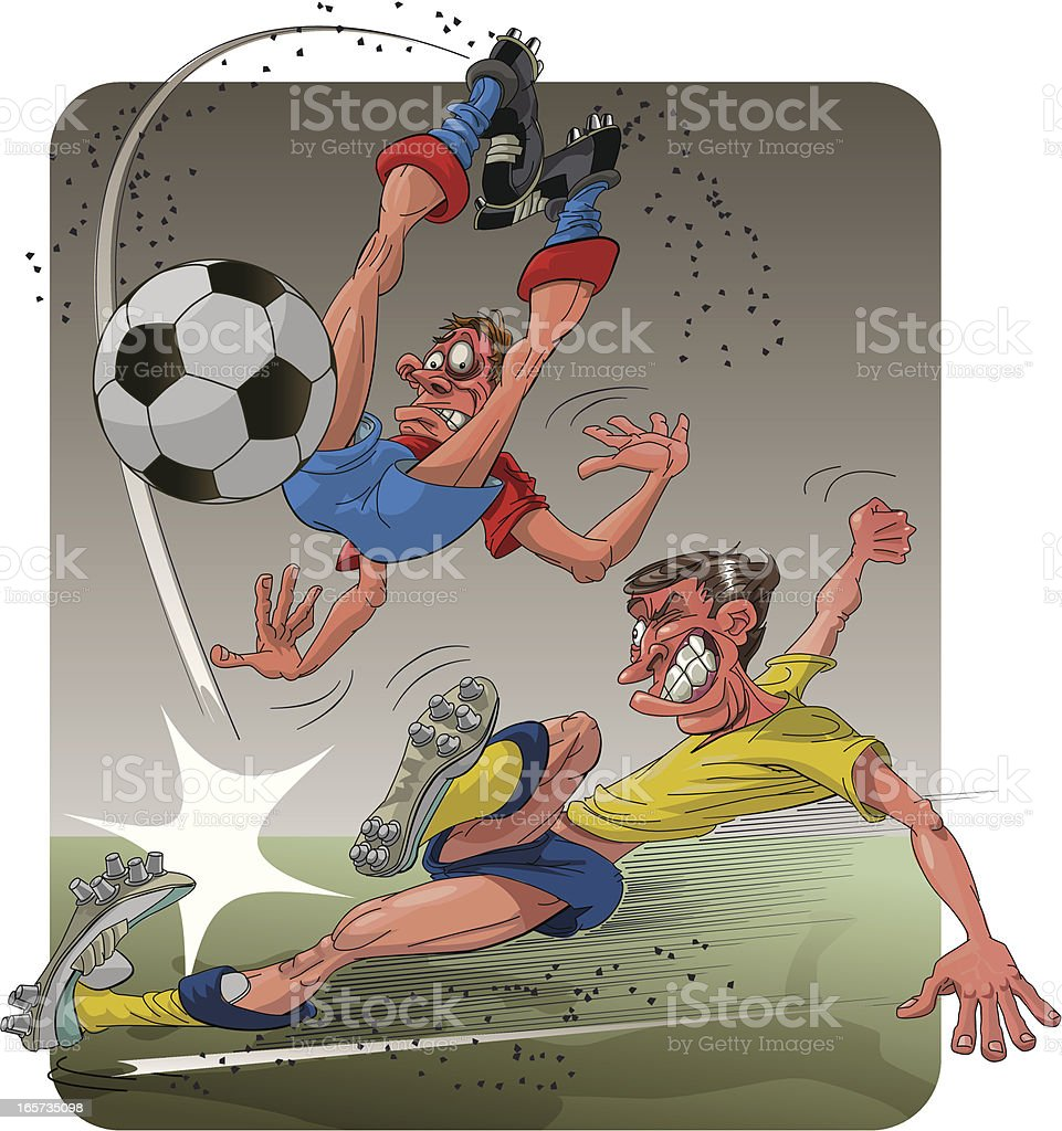 soccer foul royalty-free stock vector art