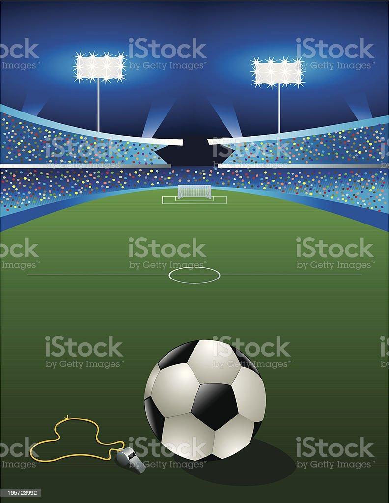 Soccer Game at Night! royalty-free stock vector art