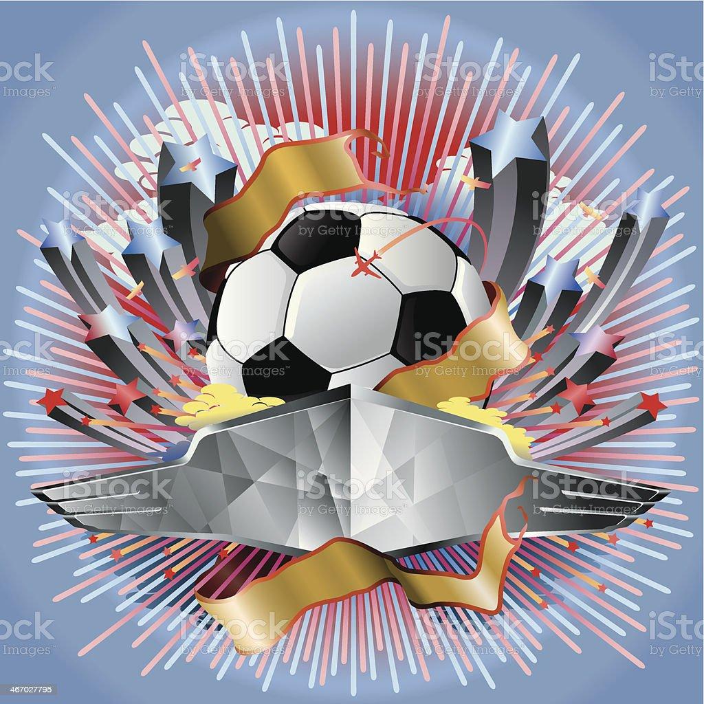 Soccer Game Entertainment Vector vector art illustration