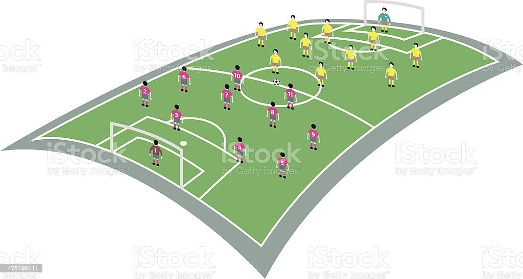 soccer game royalty-free stock vector art