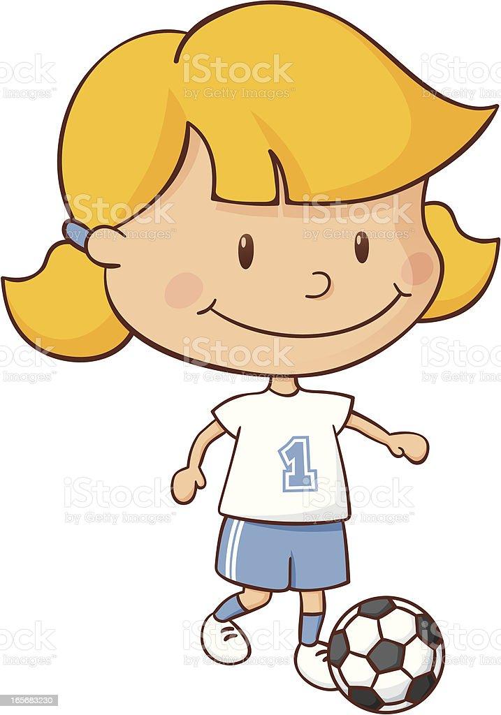 Soccer Girl vector art illustration