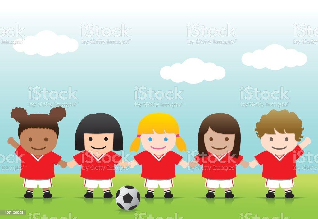 Soccer Girls royalty-free stock vector art