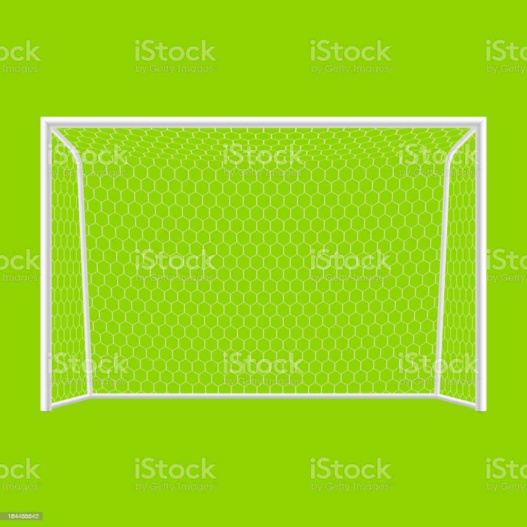 Soccer goal in white and green background vector art illustration