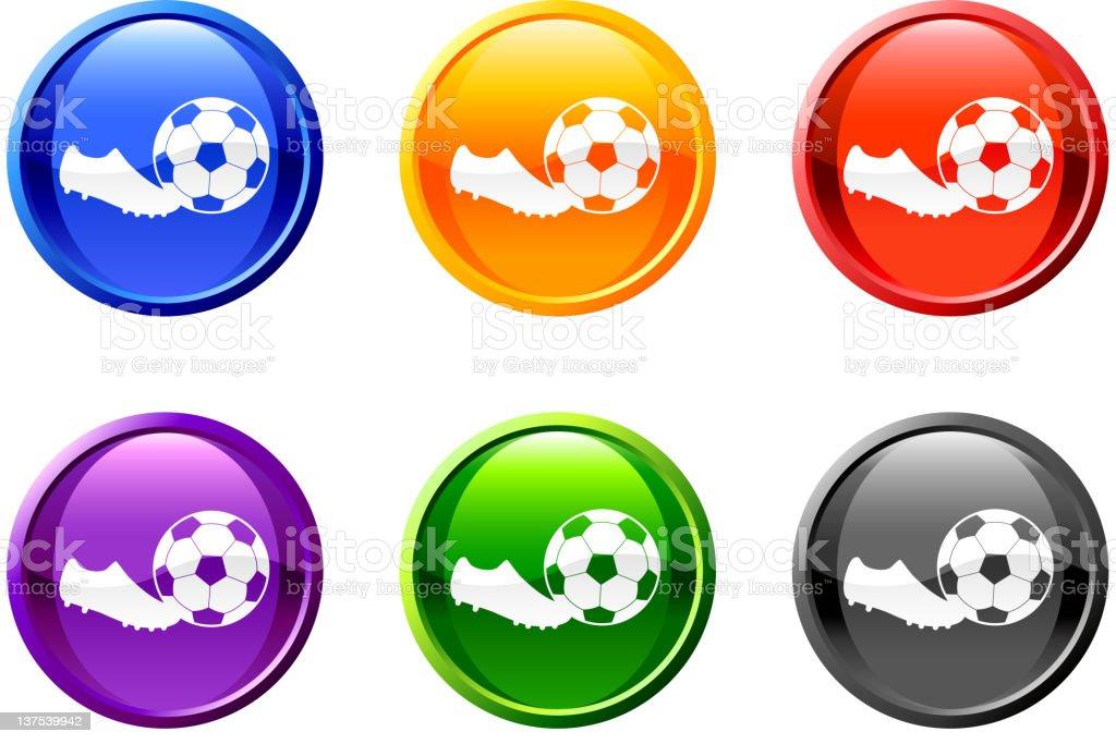 soccer goal kick button royalty free vector art royalty-free stock vector art