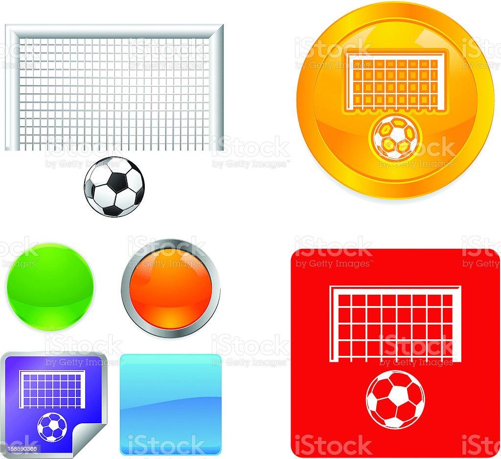 Soccer Goal Vector Icons royalty-free stock vector art