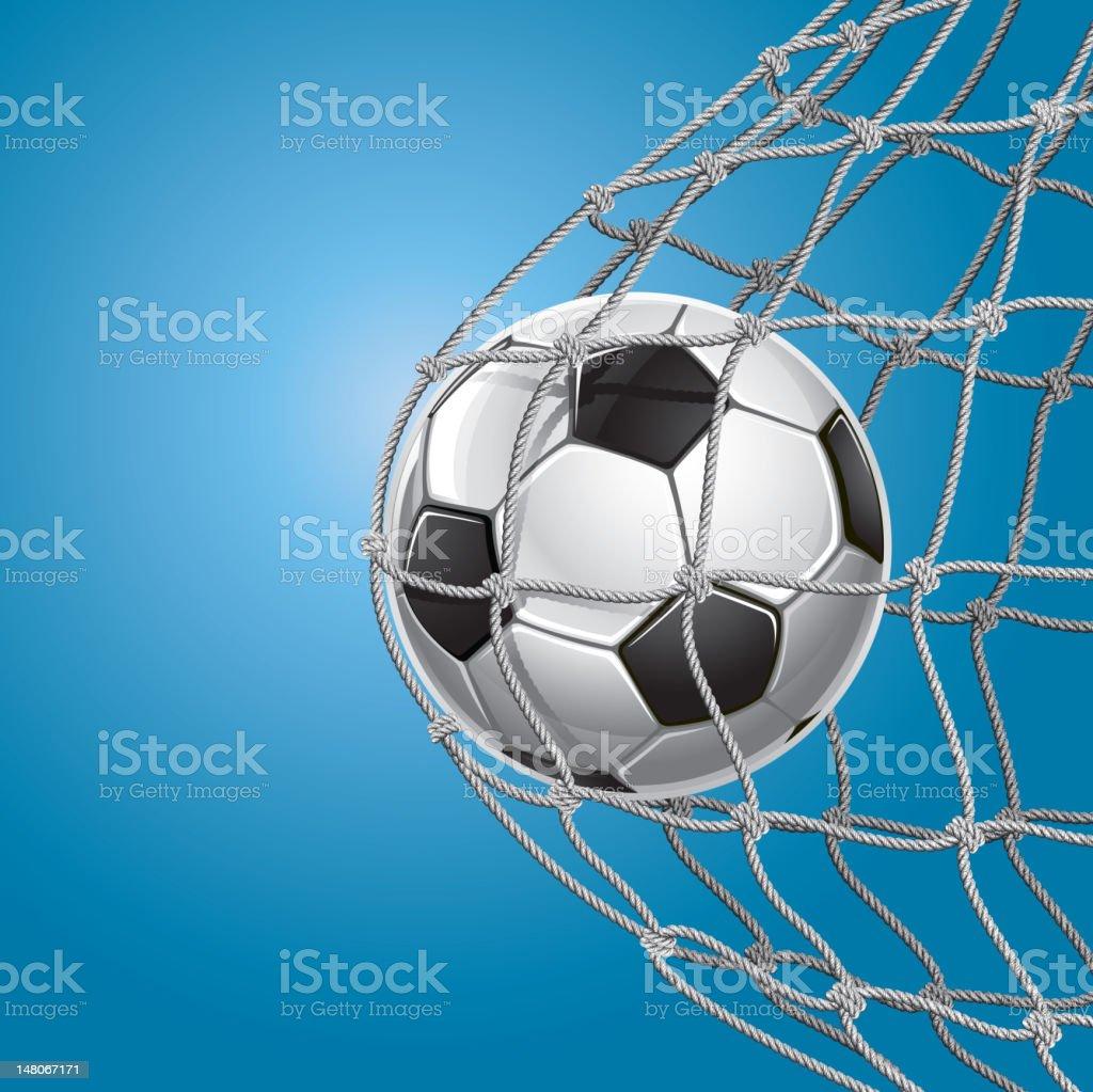 Soccer Goal. royalty-free stock vector art