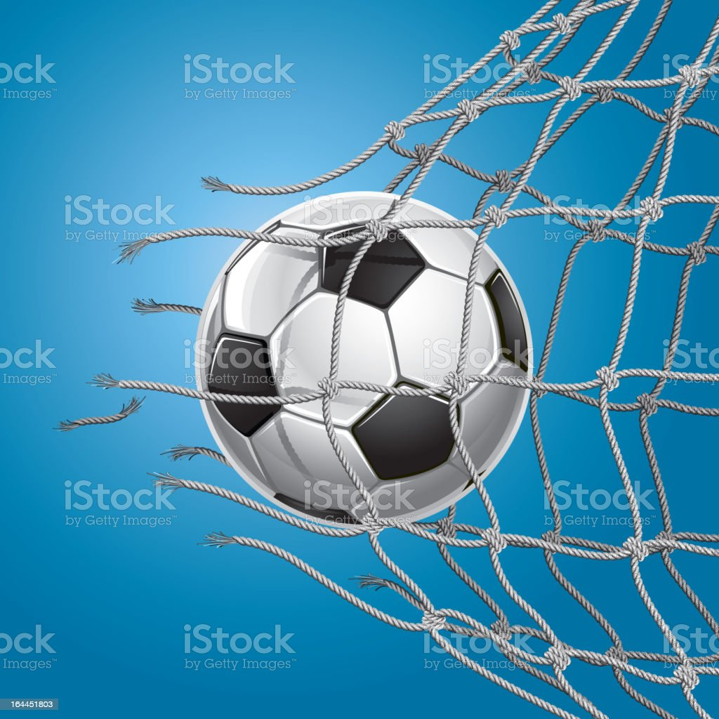 Soccer Goal. royalty-free stock vector art