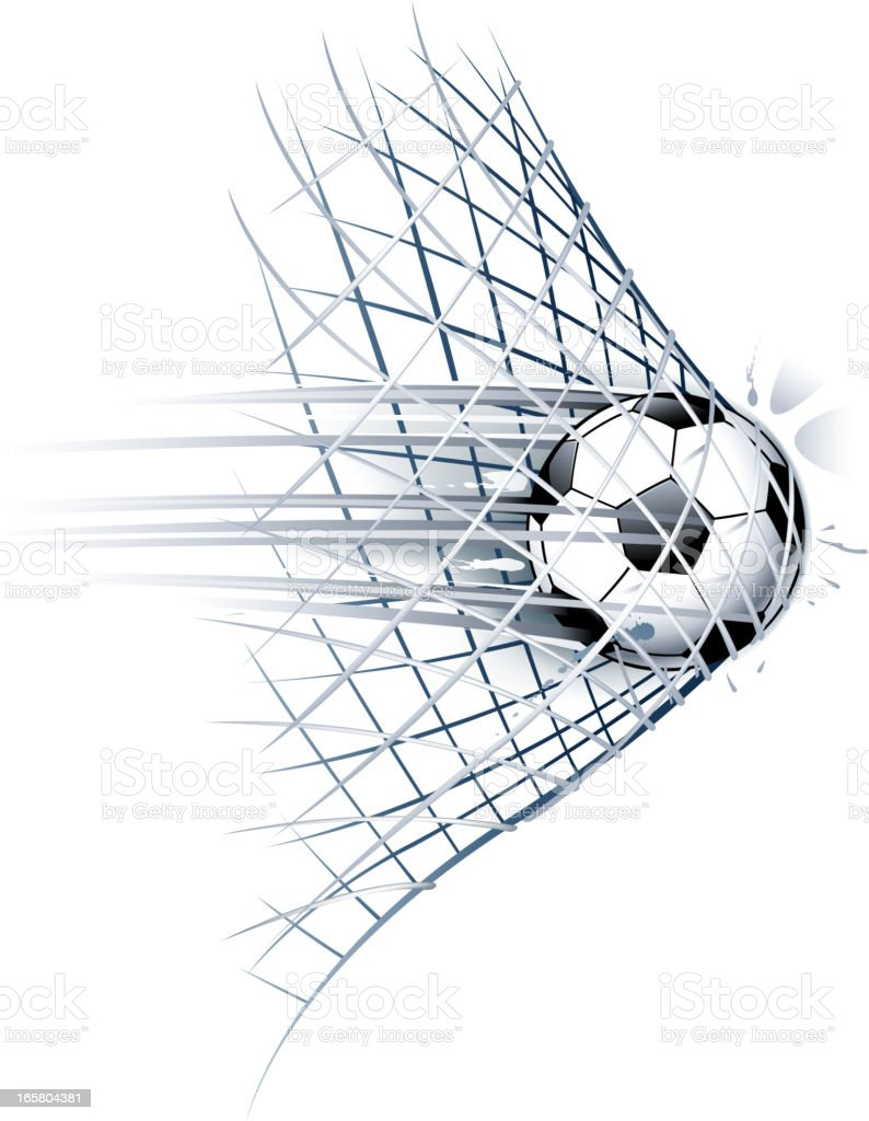 soccer goal vector art illustration