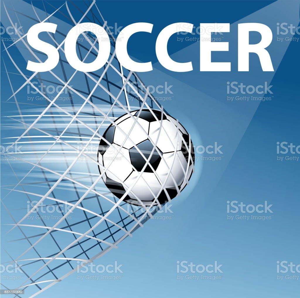 soccer goal vector art illustration