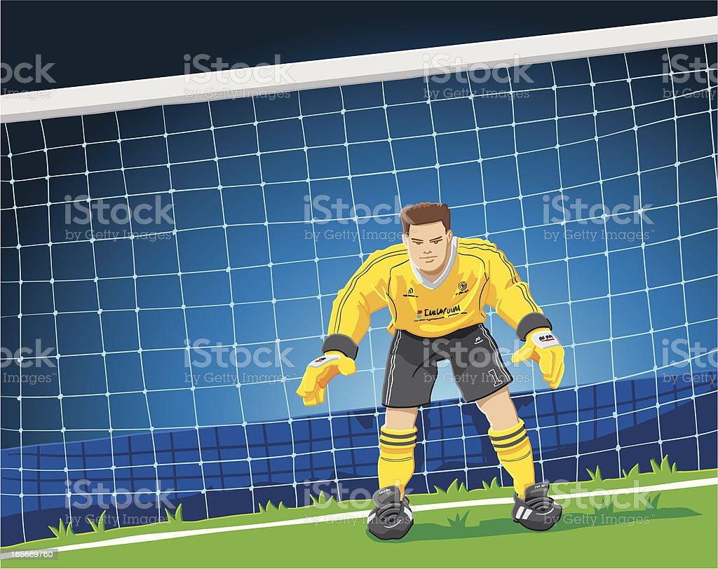 Soccer Goalkeeper royalty-free stock vector art