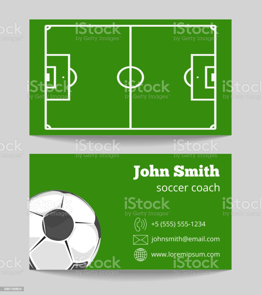 Soccer business card template stock lined papers soccer green field business card template stock vector art soccer green field business card template vector magicingreecefo Gallery