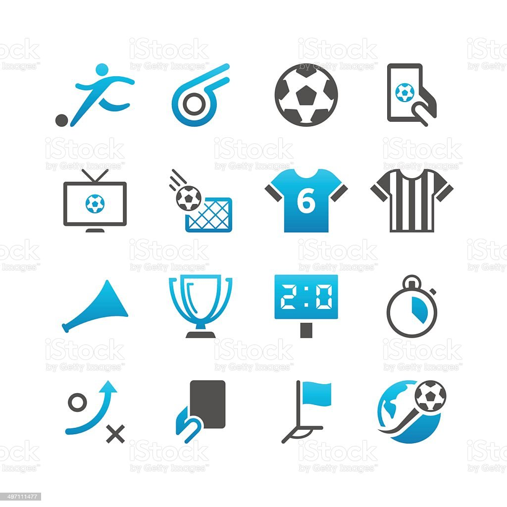 Soccer Icon Set | Concise Series vector art illustration