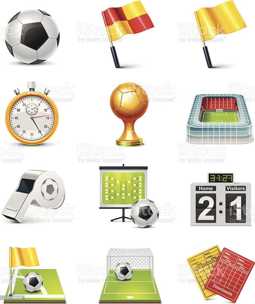 Soccer icon set vector art illustration