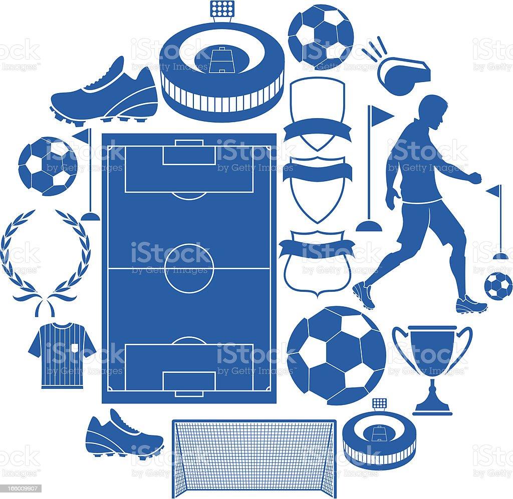 Soccer Icon set royalty-free stock vector art