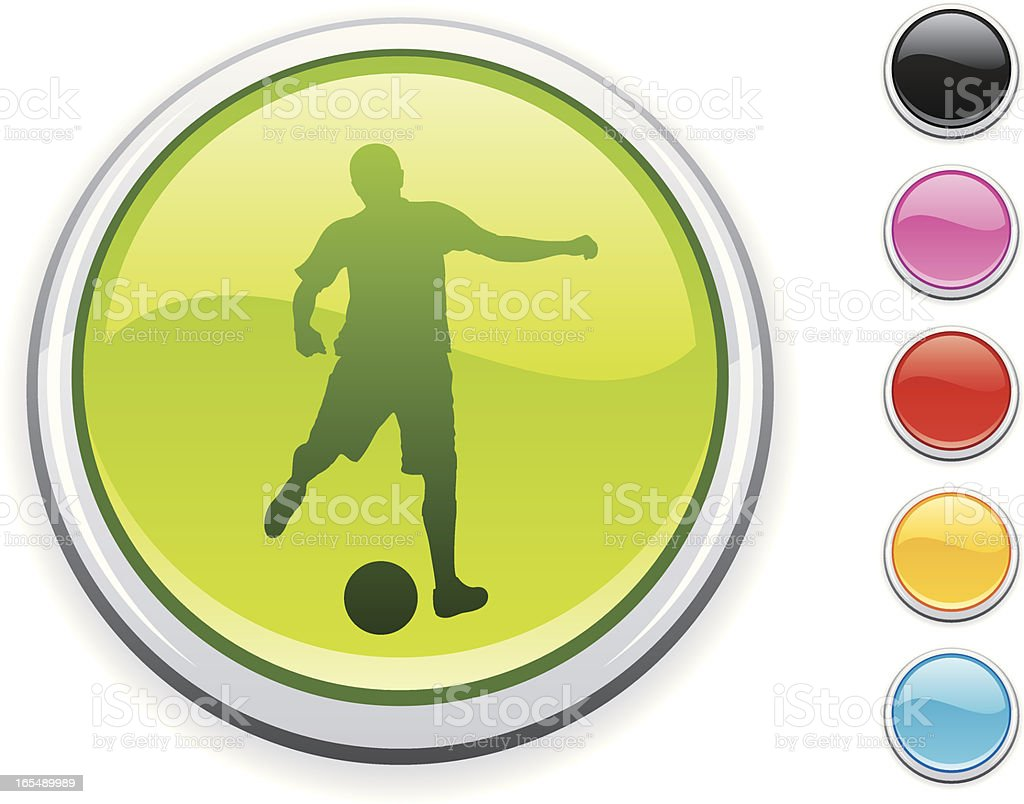 Soccer icon royalty-free stock vector art