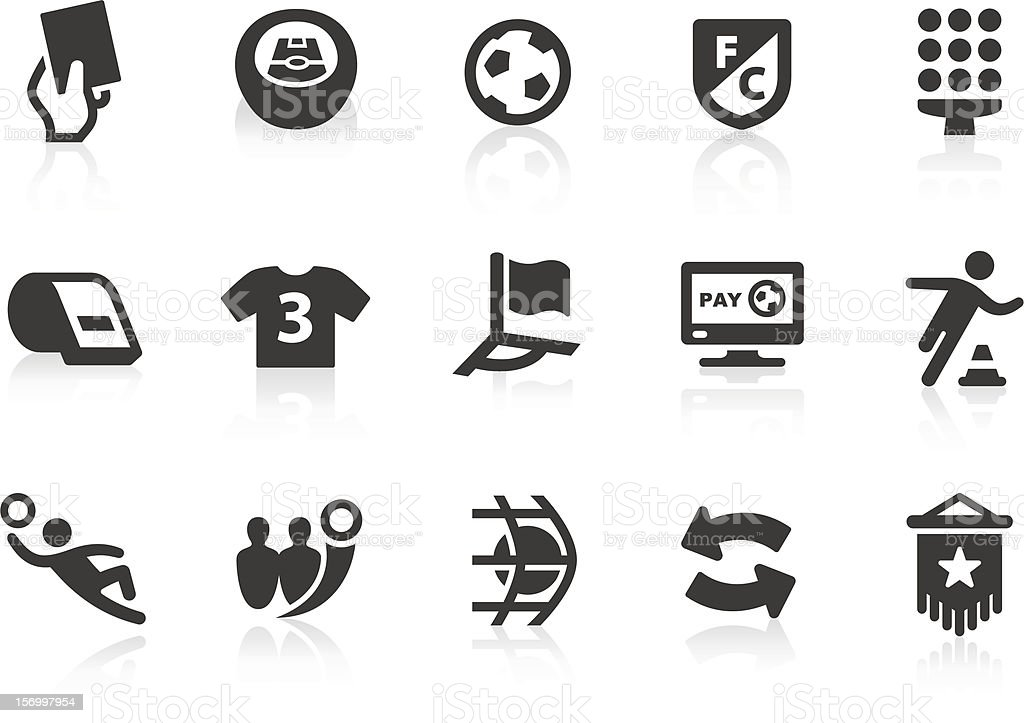 Soccer icons 1 vector art illustration