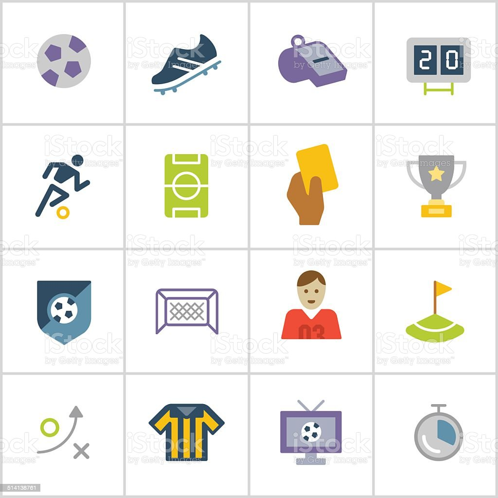Soccer Icons — Poly Series vector art illustration