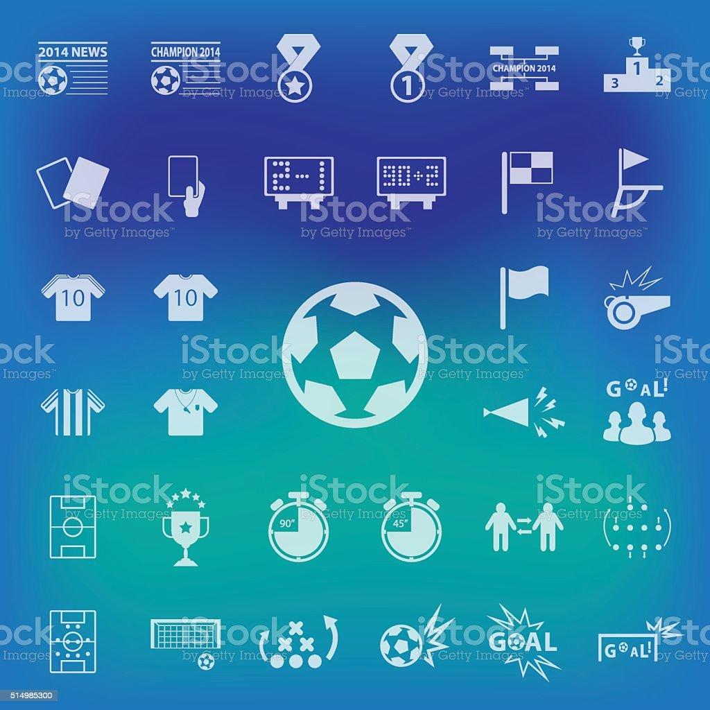 Soccer Icons set on blur background. vector , illustration. vector art illustration
