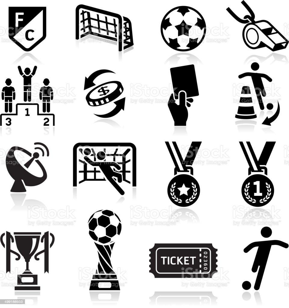 Soccer icons set . royalty-free stock vector art