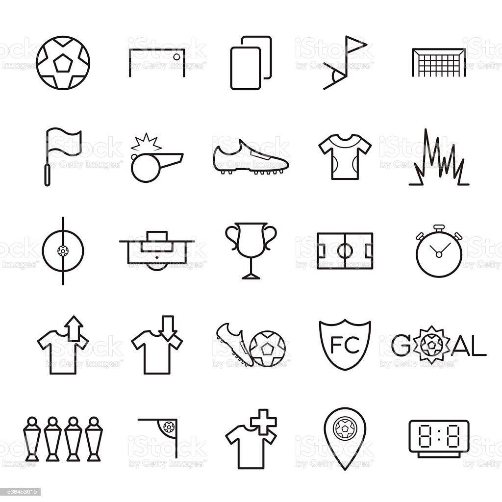 Soccer icons set vector vector art illustration