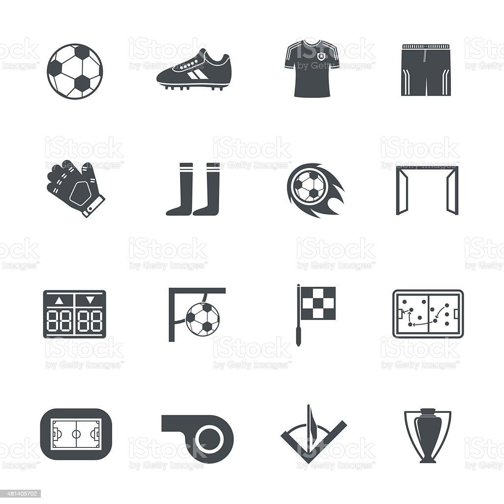 Soccer icons vector art illustration