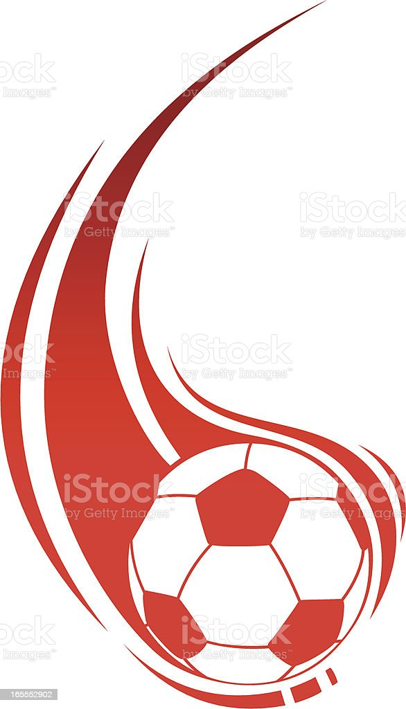Soccer in flame royalty-free stock vector art