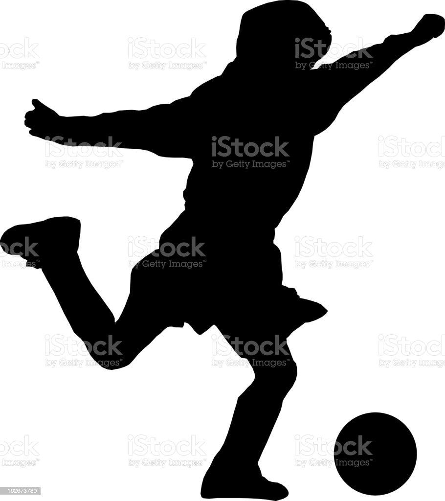 Soccer Kick royalty-free stock vector art