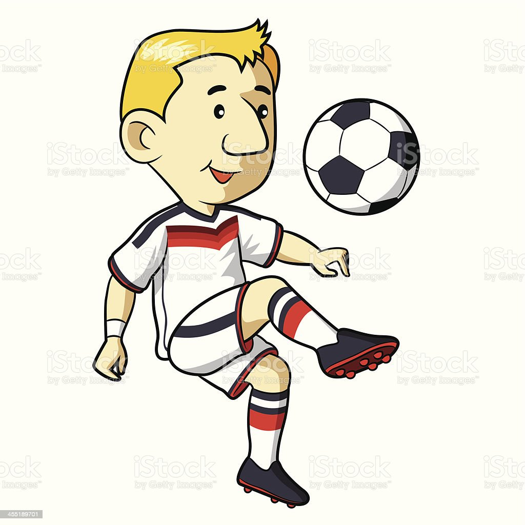 Soccer Kid Cartoon royalty-free stock vector art