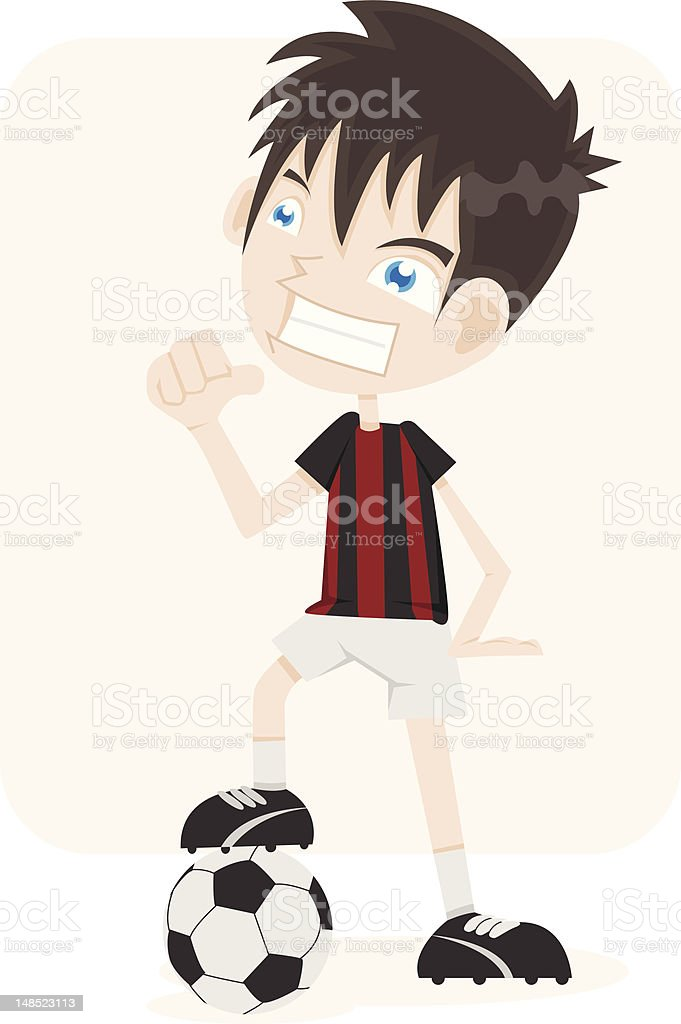 Soccer Kid royalty-free stock vector art